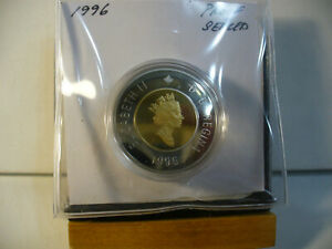 1996 CANADA TOONIE PROOF TWO DOLLAR HEAVY CAMEO COIN