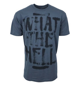 Abbey-Dawn-What-the-Hell-Mens-Charcoal-T-shirt