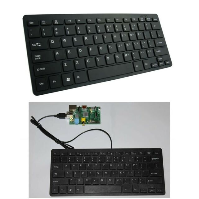 USB Slim silent wired mini PC keyboard for the Raspberry Pi
