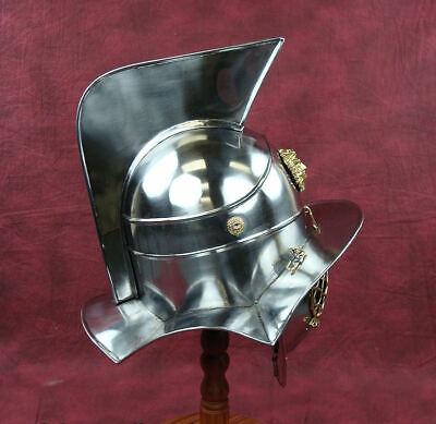 18GA Medieval SCA LARP Gladiator Helmet III Brass Reenactment Armor Helmet