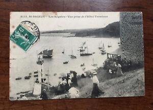 CPA-Carte-Postale-Ancienne-Bretagne-Cote-d-039-Armor-St-Brieuc-Regates-Hotel-Terminu