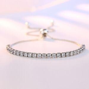 Ladies 925 Sterling Silver Bracelet Friendship Bridesmaid Jewellery Women Chain