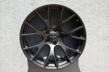 Set of 4 Wheels 20 inch Matt Black 20x9 Rims 5x115 ET21 CB71.5
