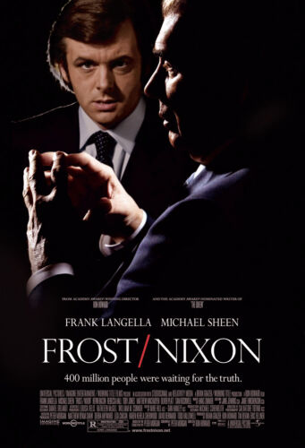 FROST/NIXON (2007) ORIGINAL MOVIE POSTER  -  ROLLED  -  DOUBLE-SIDED