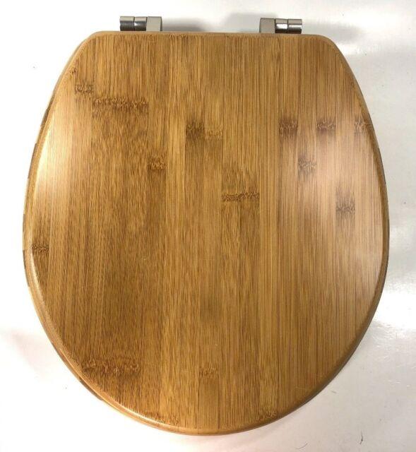 Awe Inspiring Bemis Round Solid Wooden Toilet Seat Wood Lid Hardware Bathroom Decoration Home Creativecarmelina Interior Chair Design Creativecarmelinacom