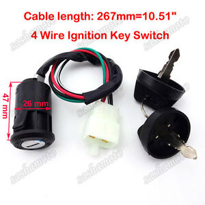 Ignition-Key-Switch-For-50-70-90-110-125-cc-Quad-ATV-4-Wheeler-Go-Kart-Dirt-Bike