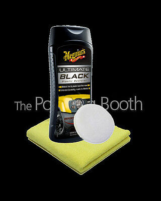 Meguiars Ultimate Black Plastic Restorer & Applicator, Microfibre 355ml