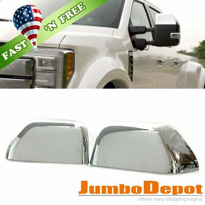For Dodge RAM 2002-2005 2006 2007 2008 Chrome Top Half TOWING Mirror Covers PAIR