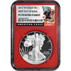 2017-W Proof $1 American Silver Eagle NGC PF70UC FDI Black Label Red Core