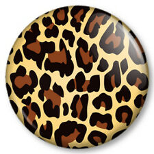 "Leopard animal print 1"" 25mm Pin Button Badge Pattern kitsch big cat fashion"