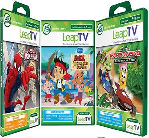 LeapFrog-leapTV-Active-Games-Kart-Racing-amp-SPIDERMAN-amp-Jake-Pirates-New-sealed