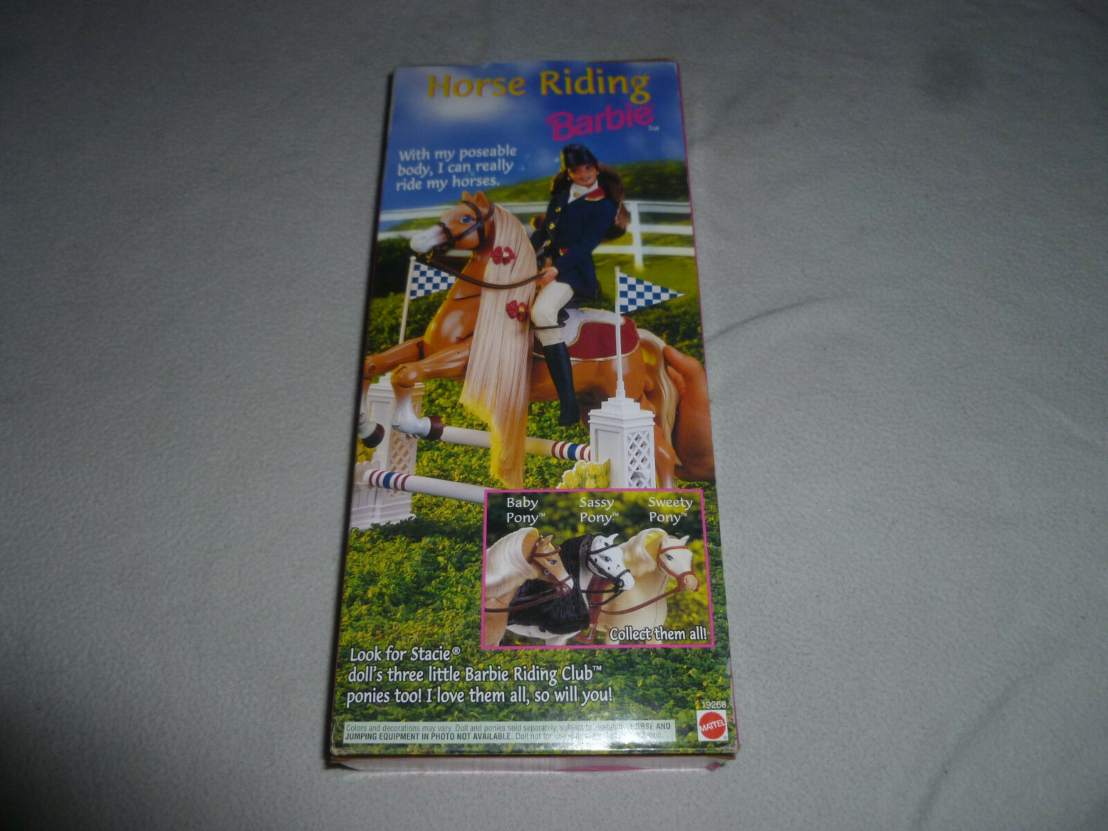 NEW IN BOX HORSE RIDING RIDING RIDING CLUB BARBIE DOLL MATTEL 19268 NIB 1997 POSEABLE BODY fbd401