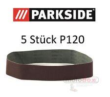 5x Schleifpapier PARKSIDE PSBS 240 B2 Standbandschleifer P120 LIDL IAN 113076