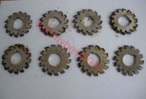 Lot 8pcs 1set M1 20 degree #1-8 Involute Gear Cutters HSS Module 1 Gear Cutters