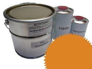 1,5 Liter Set 2K Floor Color Floor Ral 1006 Vinyl-Epoxid-Lack Lackpoint Shine