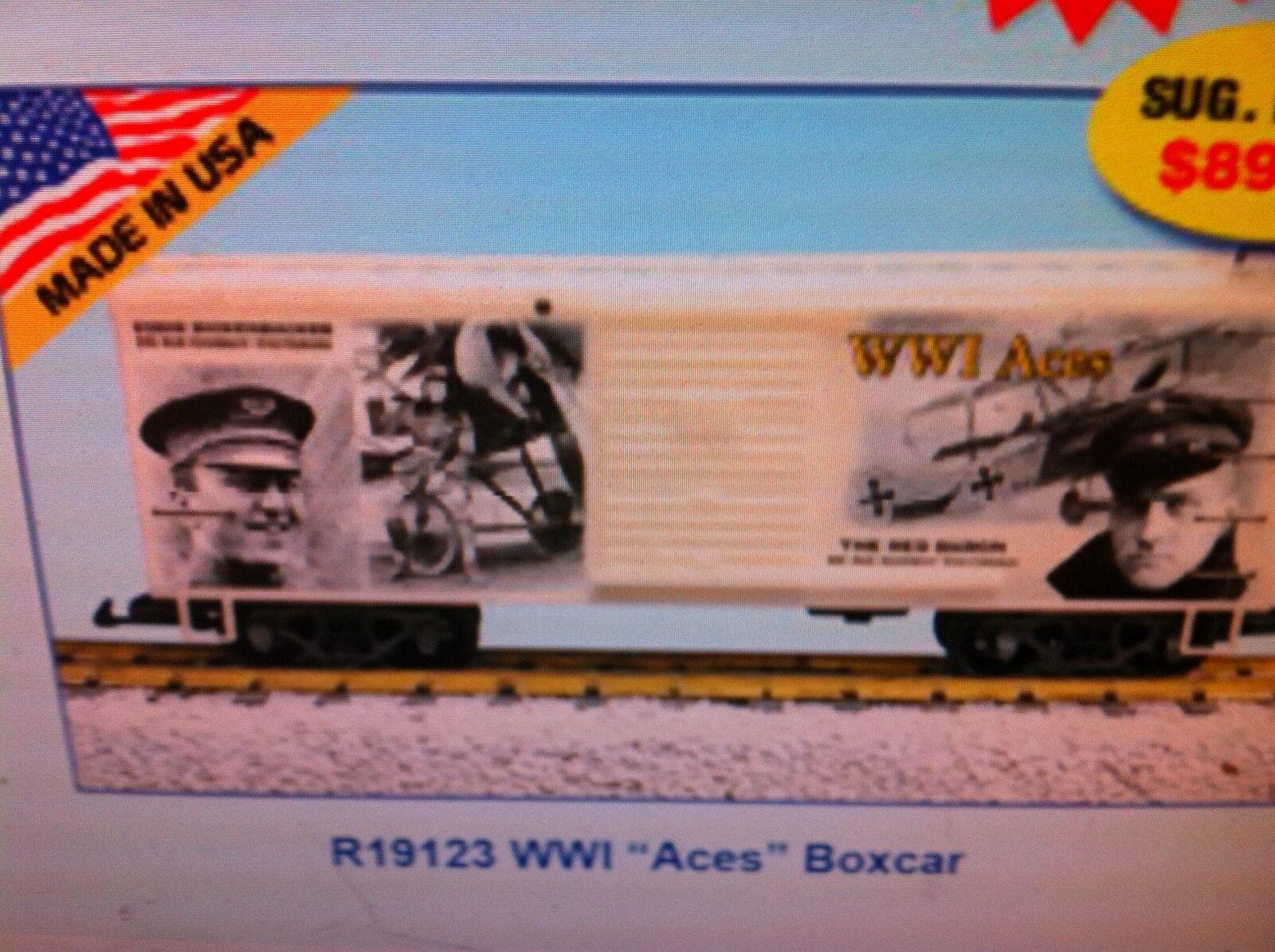USA Trains Trains Trains G Scale R19123  World War 1  ACES  BOXCAR 57f8bd