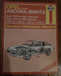 opel manta and ascona haynes manual 1975 to 1988 ebay rh ebay co uk Ascona Promenad Ascona Pizza Company Pleasanton