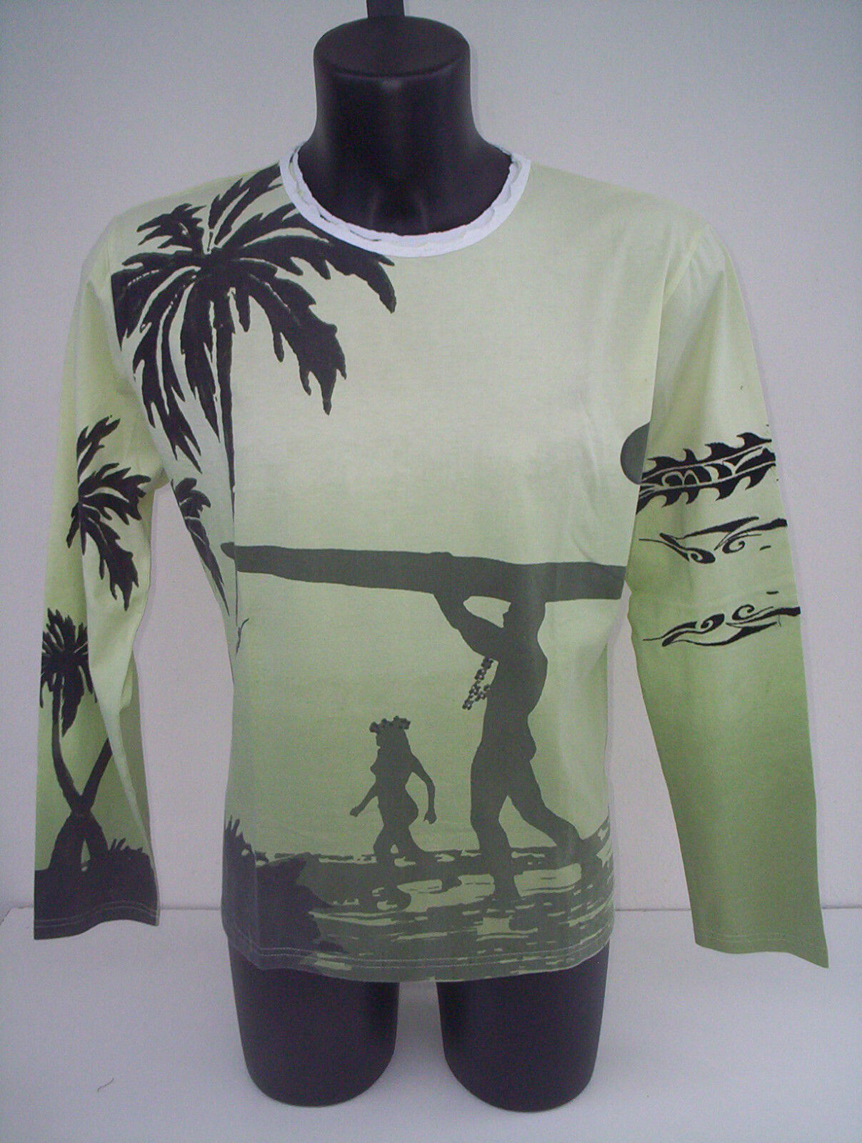 T-shirt  roberto cavalli, manica lunga,palma,tg 52