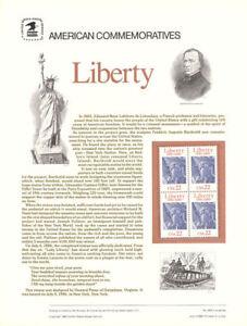 #268 22c Statue of Liberty #2224 USPS Commemorative Stamp Panel