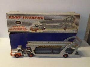 Dinky-Supertoys-Tacteur-Unic-Porte-voitures-Boilot-boite-ref-39-A-L-K