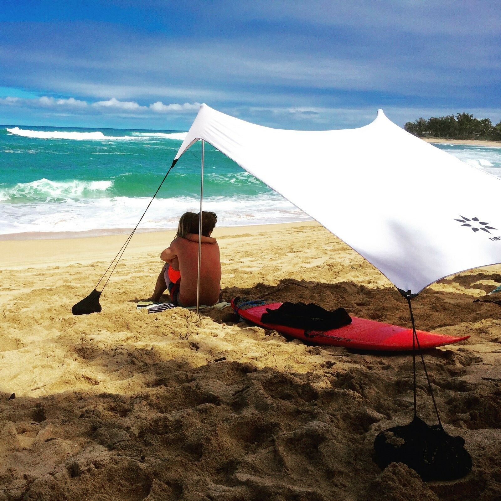 Neso Tents Beach Tent with Sand Anchor, Portable Canopy  Sun Shelter (White)  online outlet sale