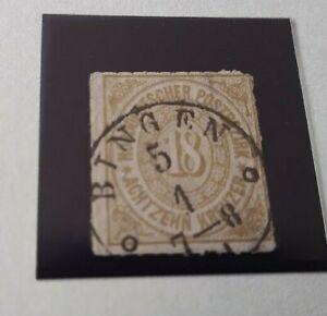AD-Norddeutscher-Postbezirk-18-Kreuzer-Nr-11-Pracht-gestempelt-1868