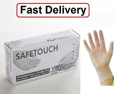 Safetouch Disposable-cv-powder Free Gloves 10 100 200 300 Fast Delivery Providing Amenities For The People; Making Life Easier For The Population Other Cleaning Supplies