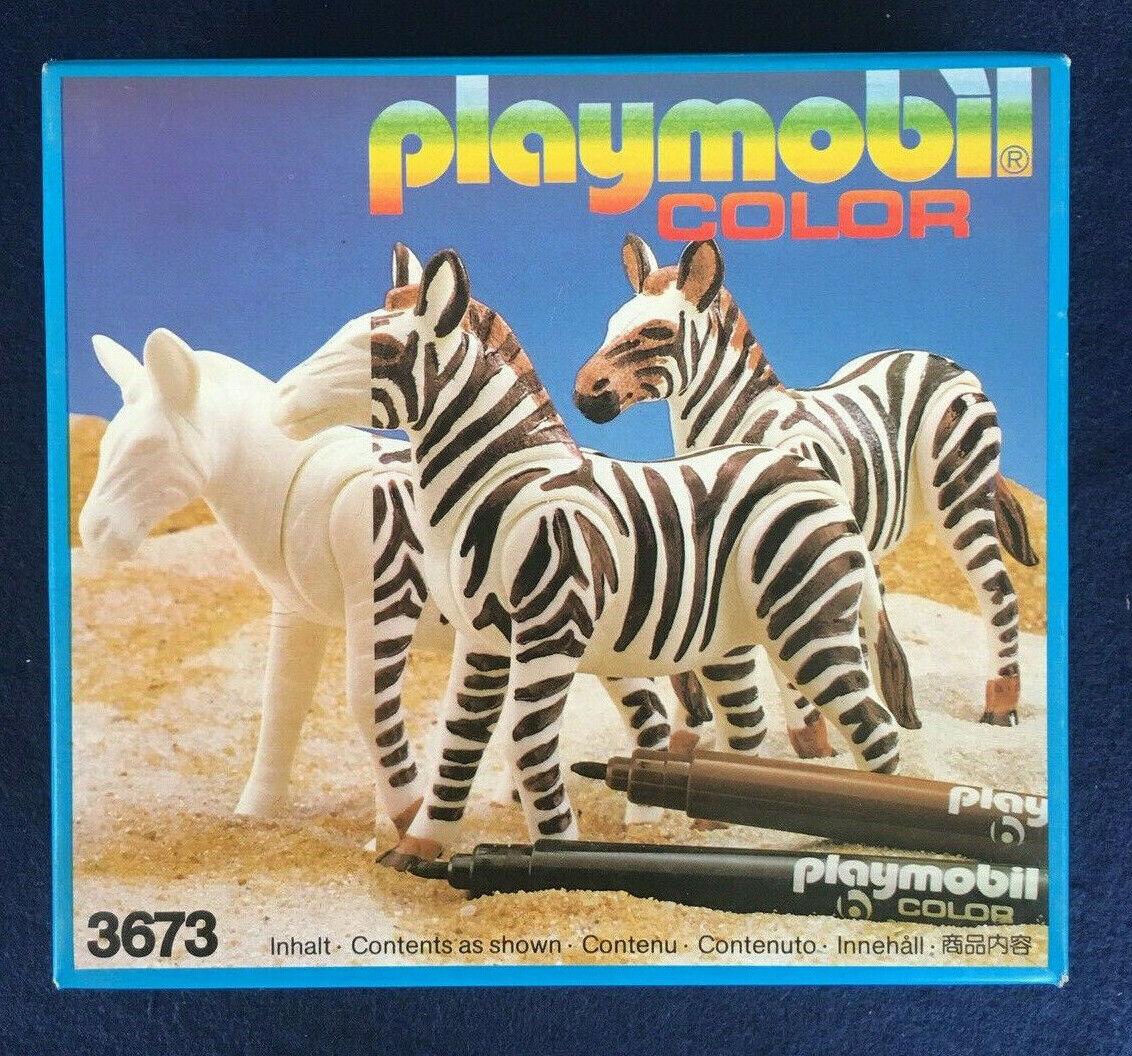 Playmobil Vintage Retirot 3673 Zebra Farbe Set - New Sealed MIB - 1990s