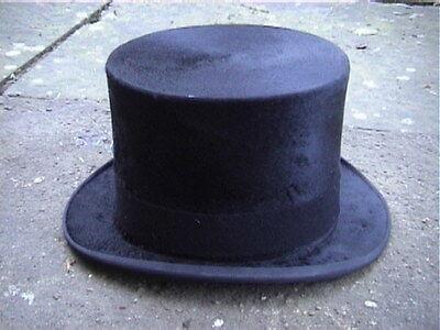 Antico Austin Reed Black Silk Top Hat Sz 6 ⅞.-mostra Il Titolo Originale