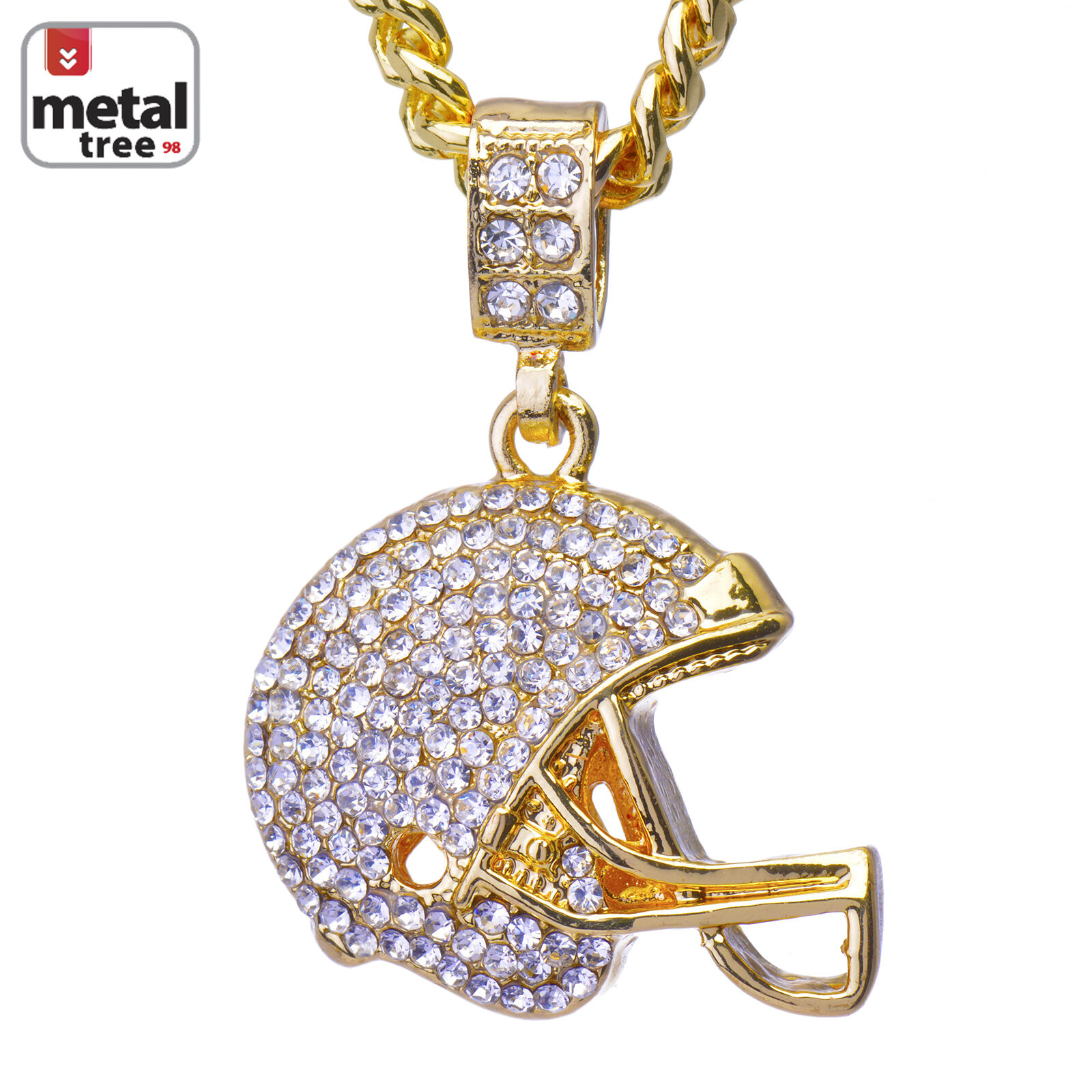 pammyj goldtone necklace pendant football pammyjfashions cluster charm products