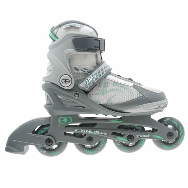 No Fear Womens Ladies Fitness Inline Skates Roller Blades Four Wheel ... f532add7da