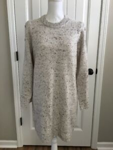 8f0f5be5edd Image is loading New-Madewell-Donegal-Snow-Button-sleeve-Sweater-dress-