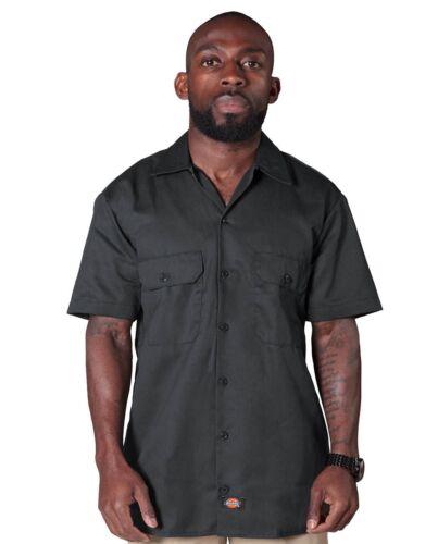 Charcoal Dickies1574CH Mens Classic Work Shirt Dickies Short Sleeve Work Shirt