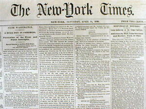 Presidential Election of 1860 - The New York Times
