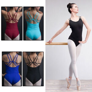 a05ea07b0 Women Adult Cotton Camisole Ballet Dance Gymnastics Bodysuit Leotard ...