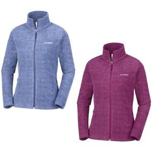 COLUMBIA Fast Trek Light Printed Outdoor Hiking Full Zip Fleece Jacket Womens