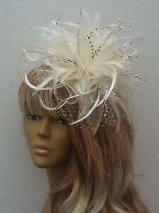 Bespoke-Design-Cream-Silver-Brides-Fascinator-Weddings-Mother-of-The-Bride-Groom