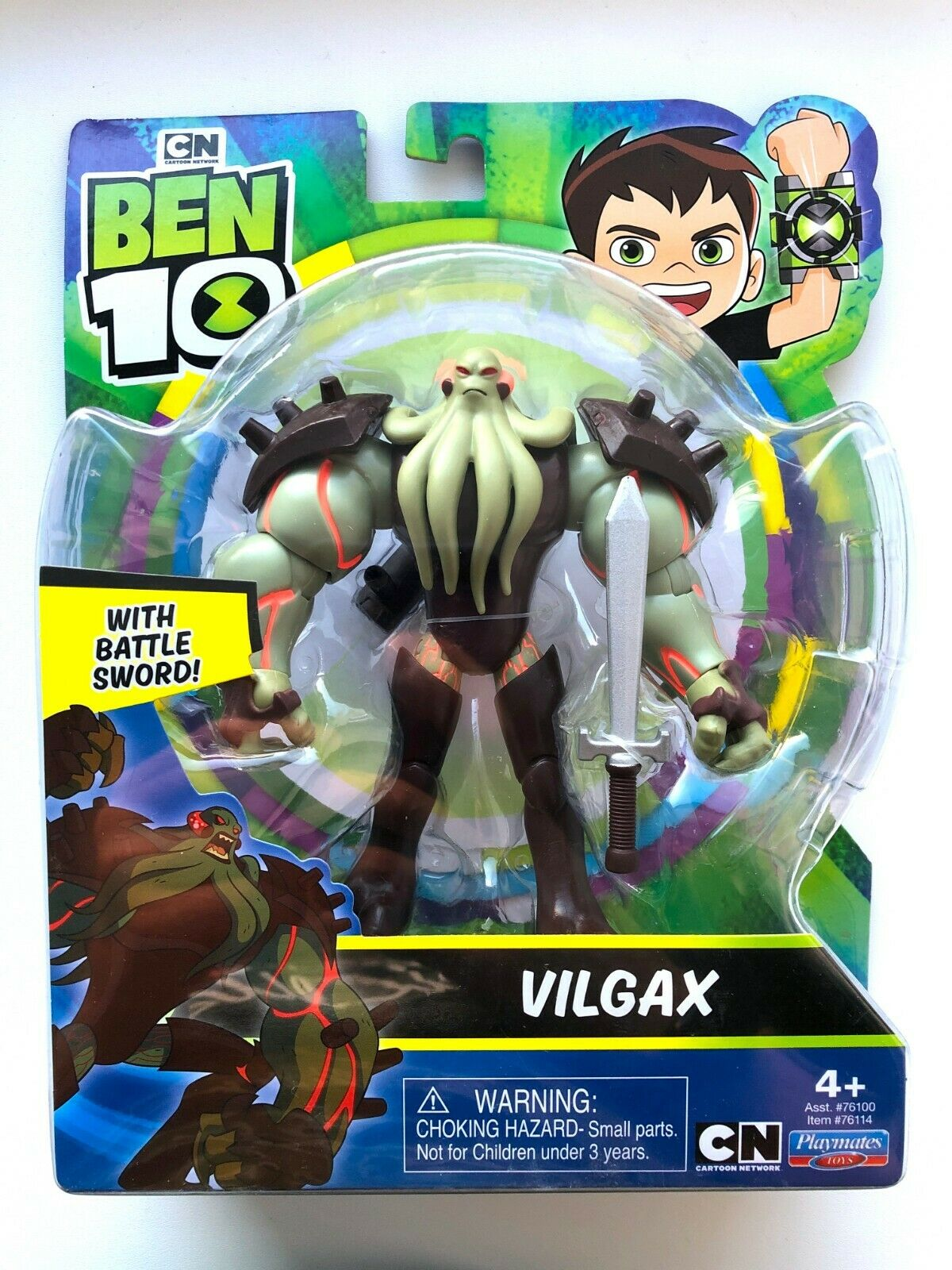 Ben 10 VILGAX With Battle Sword 11cm 4.5in Action Figure #76114 Brand New