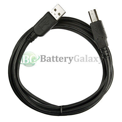 20 25 50 100 Lot 10FT A Male to B Male USB Printer Scanner Cable Black NEW HOT!