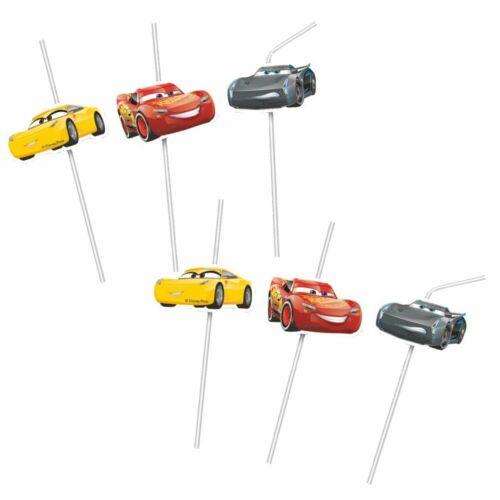 Trinkhalme RaceDisney Cars6 StückParty Kinder GeburtstagStrohhalme