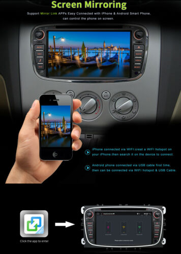 OCTA CORE ANDROID 9.0 Autoradio GPS Para for Ford Mondeo Focus S-Max  II Galaxy