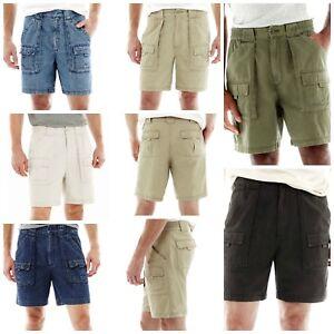 St-John-039-s-Bay-Men-039-s-Shorts-Hiking-Size-34-36-38-40-42-Cargo-Pockets-Green-Khaki