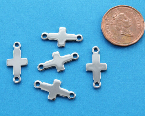 5 Stainless Steel Cross Connectors MT184 Hypoallergenic Stamping Blanks