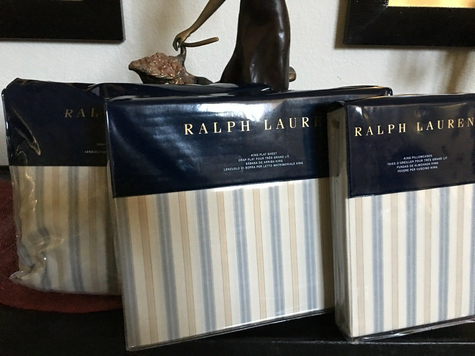 RALPH LAUREN  MADALENA  AUDREY 1O PC KING DUVET COVER  SET MULTI colorD BNIP