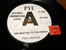 TONY JACKSON - YOU BEAT ME TO THE PUNCH - THIS   / LISTEN - SOUL GARAGE POPCORN