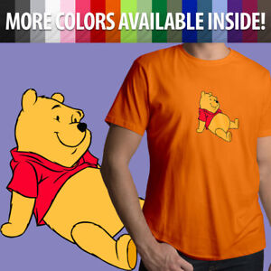 Disney-Winnie-the-Pooh-Bear-Classic-Cartoon-Movie-Unisex-Mens-Tee-Crew-T-Shirt