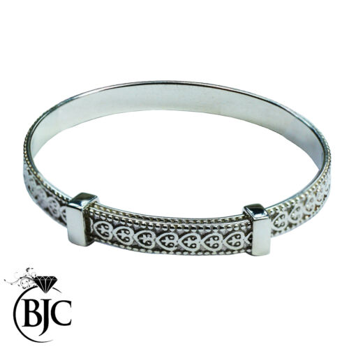 Child Birthday Naming Christening Expandable Bangle Gift Sterling Silver Baby