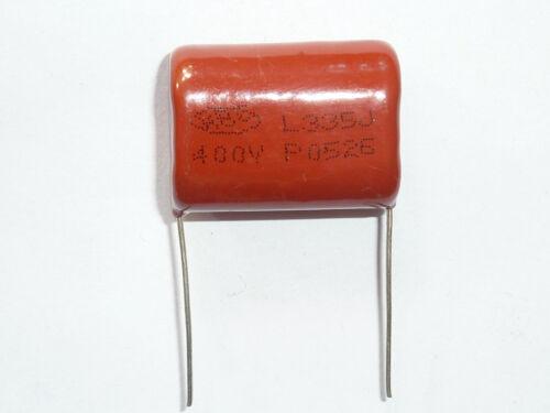 20PCS CBB21 335J 400V 3.3UF 3300NF P26 Metallized Film Capacitor