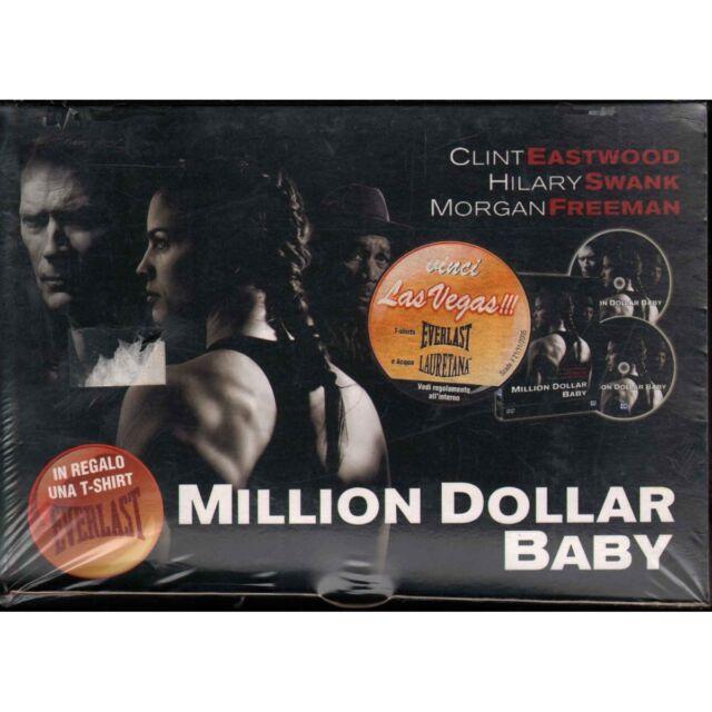 Million Dollar Baby Box DVD T-Shirt Clint Eastwood / Morgan Freeman Sigillato
