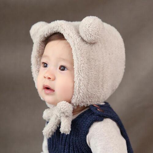 Toddler Kids Girl Boy Newborn Baby Winter Warm  Hairball Earflap Hat Beanie Cap